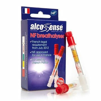 Alcosense A NF Alcohol Breathalyser Tester Twin Pack France Car Breath