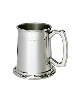 1/2 Pint Double Lines Pewter Tankard with Free Engraving