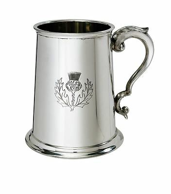 1 Pint Thistle Pewter Tankard With Free Engraving