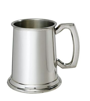 1/2 Pint Plain Pewter Tankard with Free Engraving