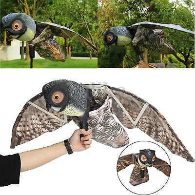 Prowler Owl with Moving Wing Garden Scarecrow Predator Decoy Pest Scarer Bird