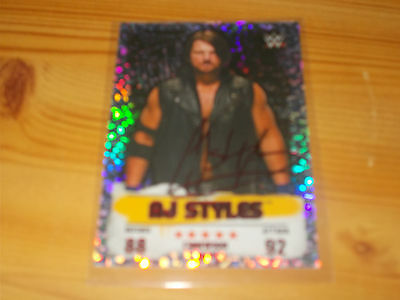 WWE Topps Slam Attax Takeover Holographic Foil Card  Red Champion AJ Styles