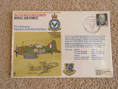 1974 RAF No71 Eagle Squadron Cover. US Andrews Air Force Base cancel