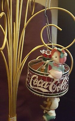 "Coca Cola ""Stained Glass Ornament w/ Bears"" - MIB"