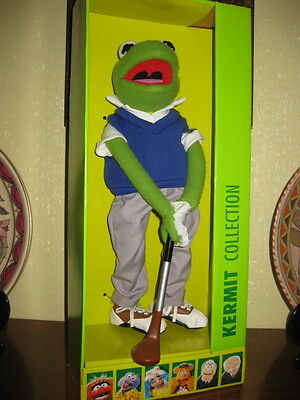 """Very Rare Igel Muppet Show Golf Kermit 14"""" Only 50 Made Mint In Packaging 2001"""