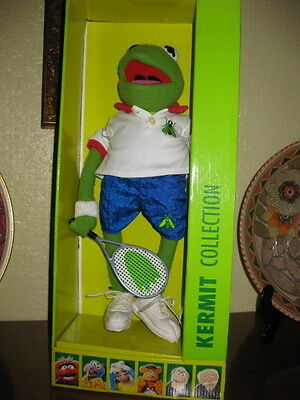 """Very Rare Igel Muppet Show Tennis Kermit 14"""" Only 50 Made Mint In Packaging"""