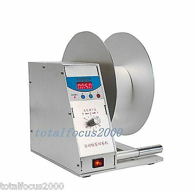 Digital Automatic Label Tags Rewinder Rewinding Machine Speed Adjustable NEW!