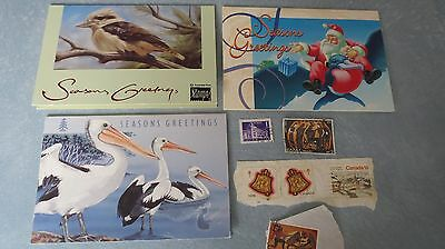 Set of 3 Australian Christmas stamps in presentation cards 1993-1995 inc