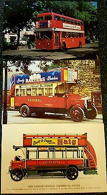 3 Bus Postcard Pike & Collectors Reproductions