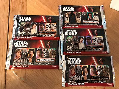 5x Packs Topps Journey To STAR WARS: THE FORCE AWAKENS TRADING CARDS (40)