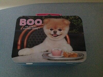 "BOO "" the worlds cutest dog "" tin lunch box"