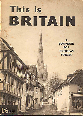 This is Britain - a souvenir for overseas forces, unusual WW2 booklet