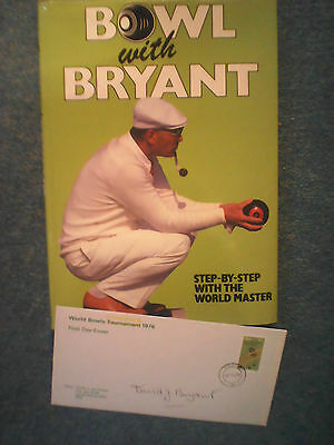 """David Bryant """"Bowl with Bryant"""" Book and signed First Day Cover"""