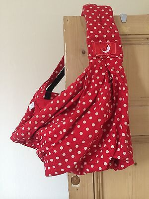 Limited Edition Red & Cream Spot Baba Sling Excellent condition Baby carrier