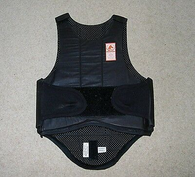 Central Equestrian Eclipse Black Horse Riding Body Protector Size Small Adult