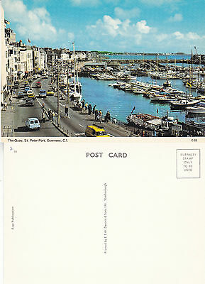 1980's THE QUAY St PETER PORT GUERNSEY CHANNEL ISLANDS UNUSED COLOUR POSTCARD
