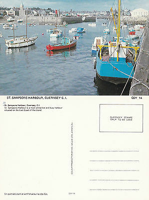 1980's St SAMPSONS HARBOUR GUERNSEY CHANNEL ISLANDS UNUSED COLOUR POSTCARD