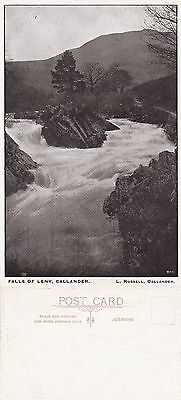 1920's THE FALLS OF LENY CALLANDER STIRLINGSHIRE SCOTLAND UNUSED POSTCARD