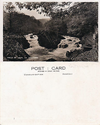 1920's THE FALLS OF LENY CALLANDER STIRLINGSHIRE SCOTLAND UNUSED POSTCARD (a)