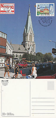 1992 Finland Nordia 92 Colour  Maxi Card First Day Shs