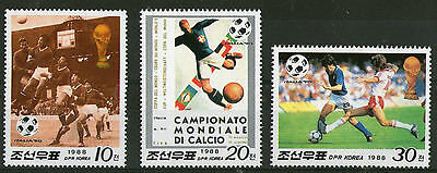 Korea 1990 Italy World Cup Set Of All Three Commemorative Stamps Mnh