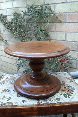 Antique victorian mahogany cake stand vase  plant pot stand display item