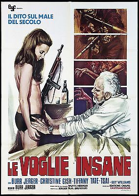 Le Voglie Insane Manifesto Cinema Sexy 1972 General Massacre War Movie Poster 2F