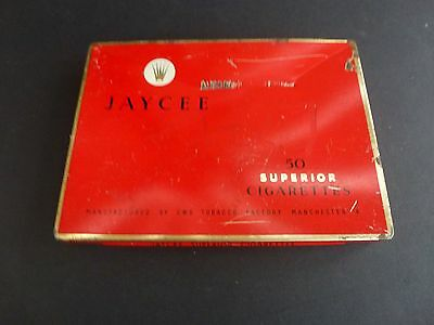 """VERY RARE Mid 1900's CWS MANCHESTER TOBACCO FACTORY """"JAYCEE"""" 50 cigarettes TIN"""