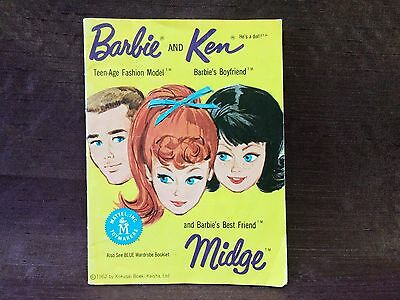 1962 Vintage Barbie And Ken Fashion Booklet | Yellow