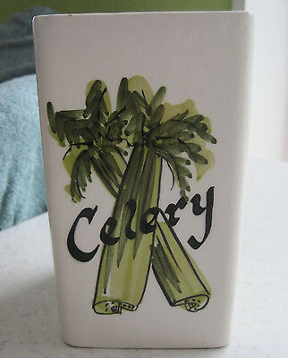 Lovely Retro Toni Raymond Celery Vase Pot Jar Vintage Studio Pottery