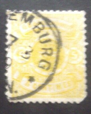 Luxembourg-1874-5c Yellow-Used