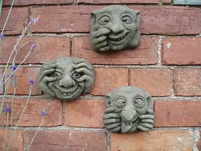 Latex Rubber Mould Mold Molds Set Of 3 Gargoyle Plaques