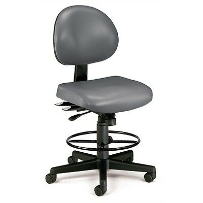 OFM 24 Hour Anti-Microbial Vinyl Computer Task Chair with Drafting kit,...