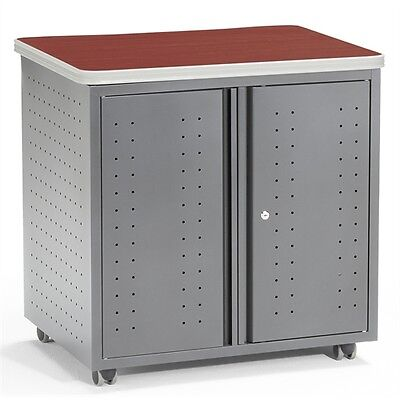 "OFM Locking Utility/Fax/Copy Table  30"" X 24"", Cherry"