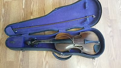 Vintage Violin J.F.& Co. Labeled With Bow And Case