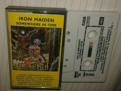 IRON MAIDEN somewhere in time  K7 SEALED cassetta mc sigillata nuova emi 2405974