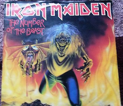 Iron Maiden (Number of the beast) 7 inch vinyl