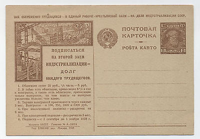 1928. Soviet Propaganda Card. Participates In The Loan Industrialisation!