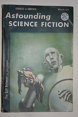 Astounding Science Fiction magazine March 1954 Queen News of the World cover