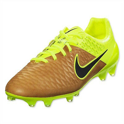Nike Magista Opus Leather FG Soccer Cleat (Canvas, Volt) Tech Craft 768890-707