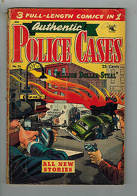 AUTHENTIC POLICE CASES COMIC No. 26 1951 3 in 1 St John Publishing