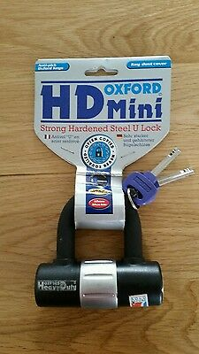 Oxford Hd Mini Strong Motorcycle Disc Lock Padlock Of161Tr Sold Secure Silver