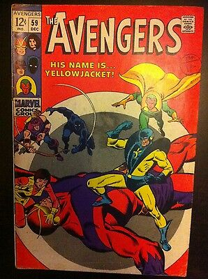 The Avengers #59 Cents Copy Vintage Silver Age Comic Book VG+