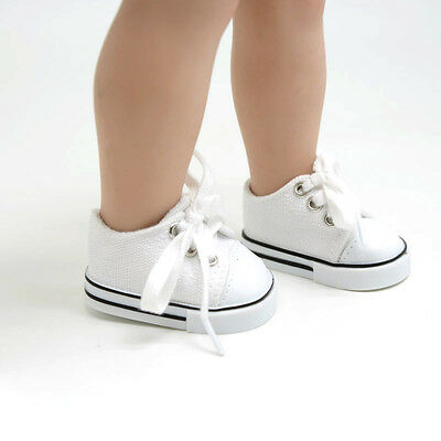 Handmade Fashion White Shoes for 18inch American Girl Doll Cute Tennis Shoes Toy