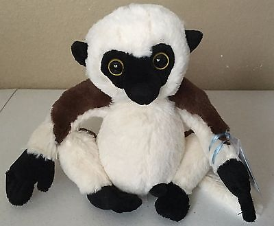 "Sifakka Lemur Webkinz with sealed code 8"" 86102"