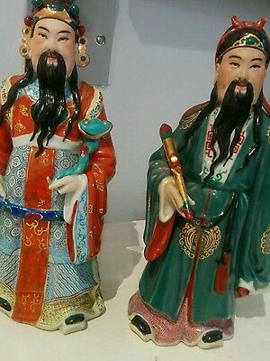 A pair of handsome fine Chinese vintage figurines