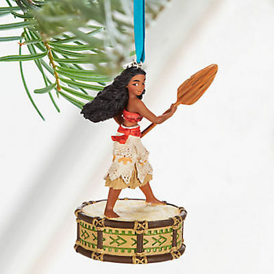 Disney Store 2016 Sketchbook Moana Musical Christmas Ornament New w/ Tags