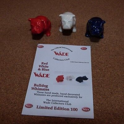 Wade - Red ,White and Blue Bulldog Whimsies  - Limited Edition 100