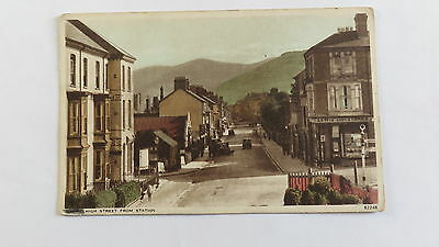 Postcard Towyn, Wales, High Street from Station. Unposted.