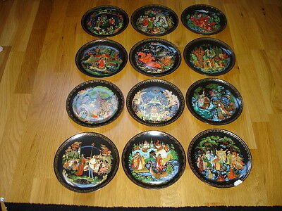 Russian Legends Collection Plates Complete Set Of 12 Limited Edition
